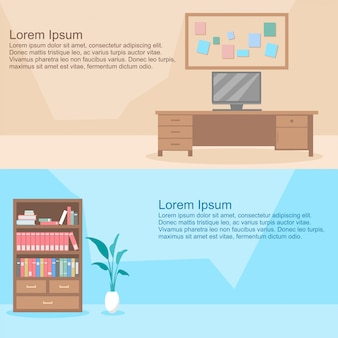 Room interior vector set
