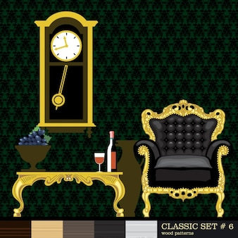 Room with gold ornaments