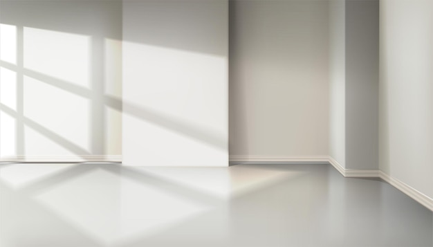 Комната со светом из окна. эффект естественной тени от окна жалюзи.