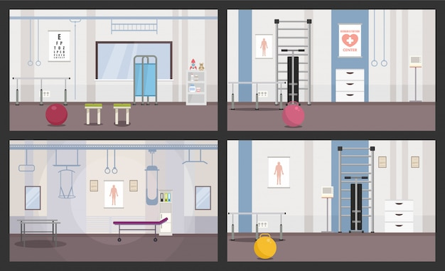 Rooms for physiotherapy sessions