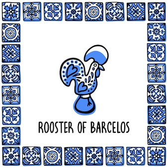 Rooster of barcelos a symbol of portugal