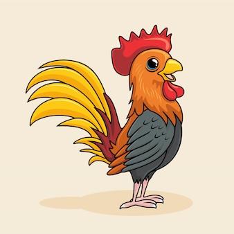 Rooster cartoon cute chicken