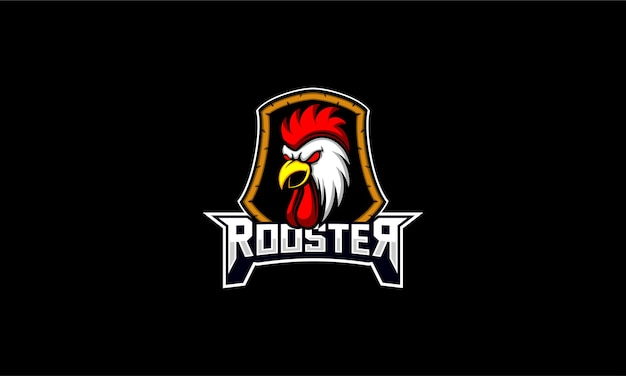 Rooster chicken head emblem