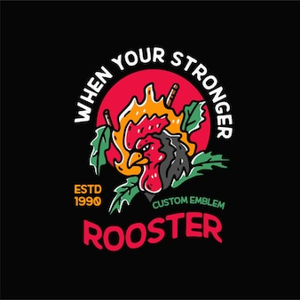 Петух курица иллюстрация винтаж для футболки