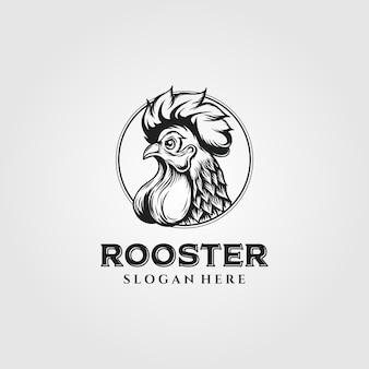 Rooster chicken logo vintage