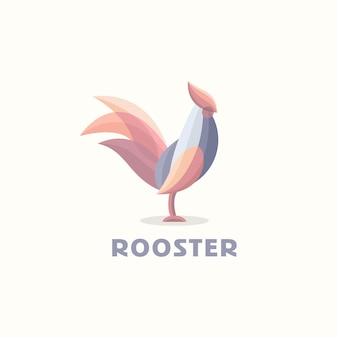 Rooster color logo template vector