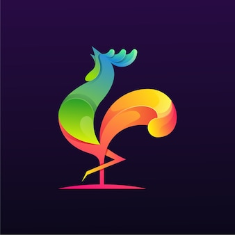 Rooster colorful logo