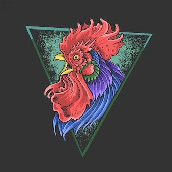 Rooster colorful