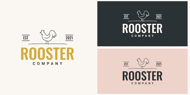 Roostercompanyのロゴテンプレートデザイン