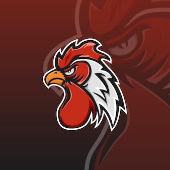 オンドリのeスポーツのロゴ