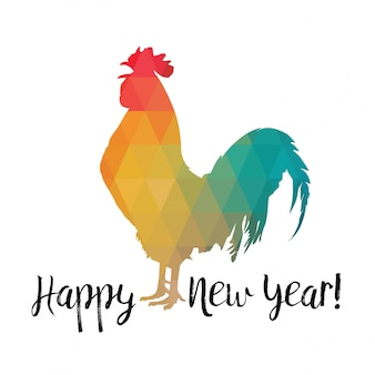 Rooster. happy new year