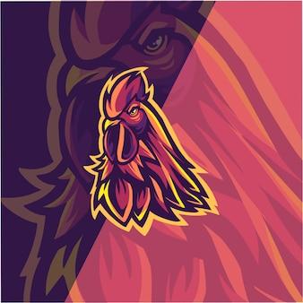 Rooster head illustration
