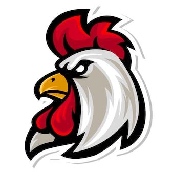 Rooster head mascot logo Premium Vector