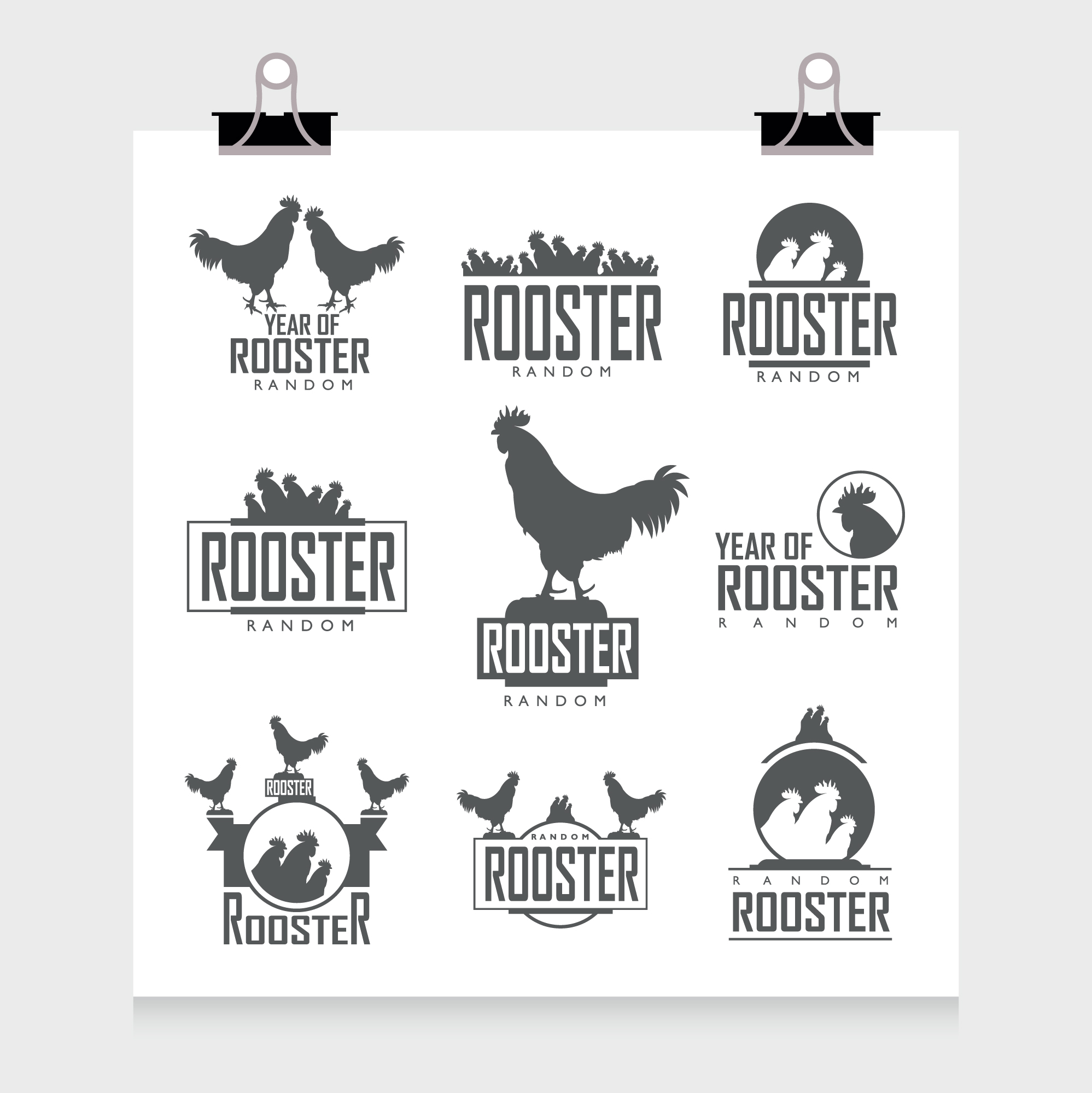 Rooster labels collection