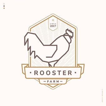Rooster linear logo