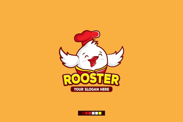 Rooster logo cartoon character