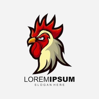 Rooster logo design illustration