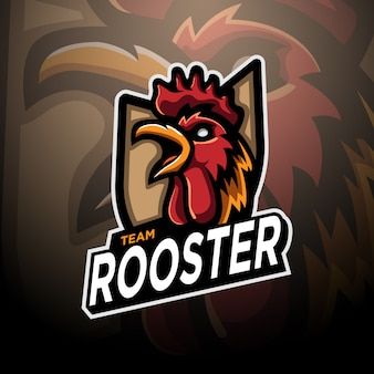 Rooster logo gaming esport template