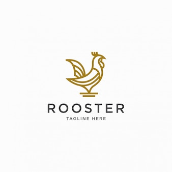 Rooster logo icon design template   illustration