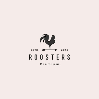 Rooster logo vector arrow icon illustration