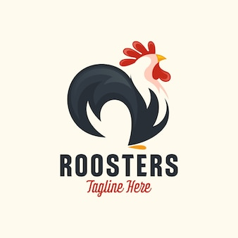 Rooster mascot logo design