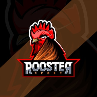 Rooster mascot logo esport templates