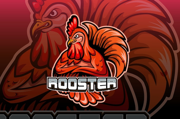 Rooster mascot logo vector