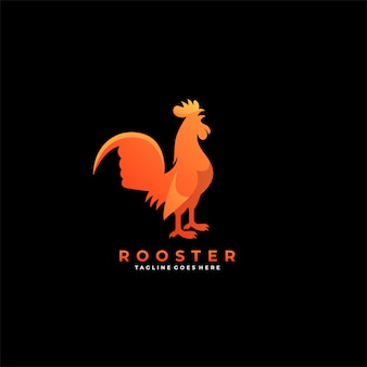 Rooster pose   logo.