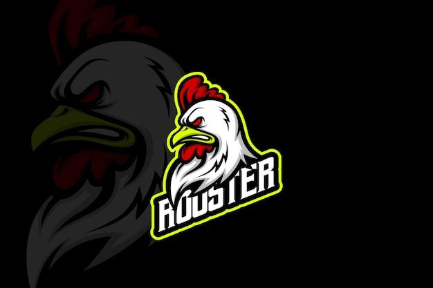 Rooster team - esport logo template