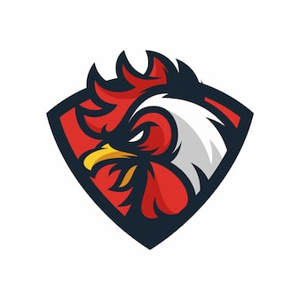 Rooster - vector logo/icon illustration mascot