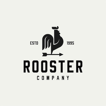 Rooster with arrows logo