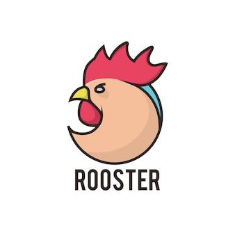 Шаблон логотипа бренда rooster