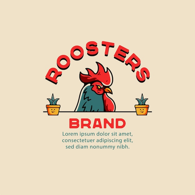 Roosters illustration vintage tattoo for tshirt