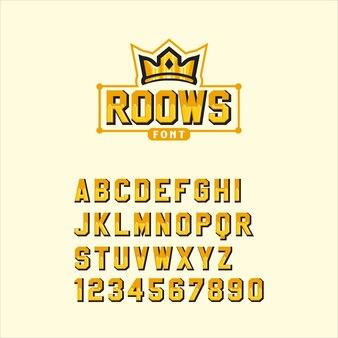Roows font
