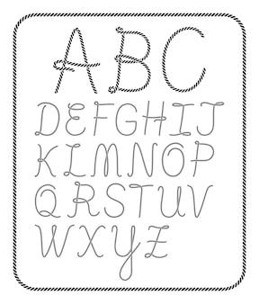 ロープアルファベット文字コレクション
