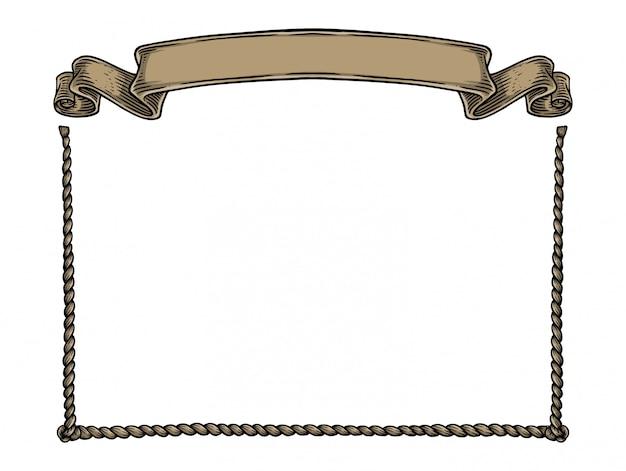 ロープとバナー