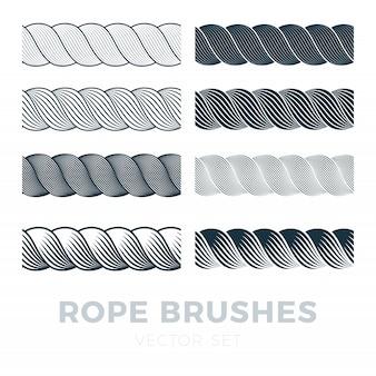 로프 브러쉬 프레임, 텍스트 장식 검은 선으로 설정합니다. 두꺼운 코드 또는 와이어 요소.