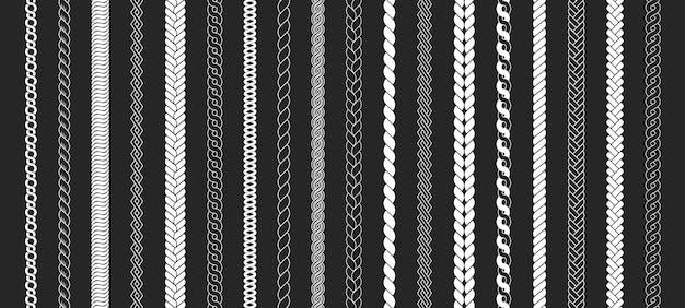 Набор канатных щеток узор в косичках толстый шнур или элементы из проволоки