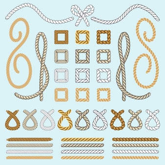 Rope brushes vector set