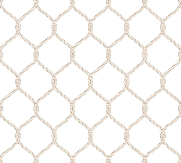 Rope knot seamless pattern
