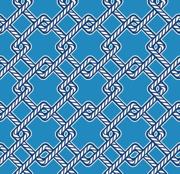 ロープノットシームレスパターン