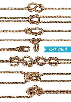 Rope knots set
