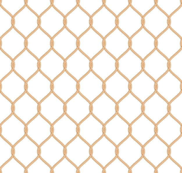 Rope marine net pattern seamless vector