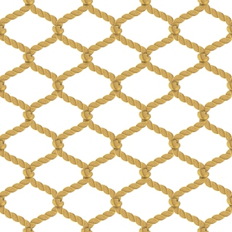 Rope net seamless pattern