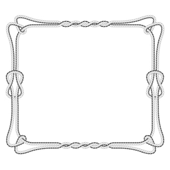 Rope square frame with knots and loops