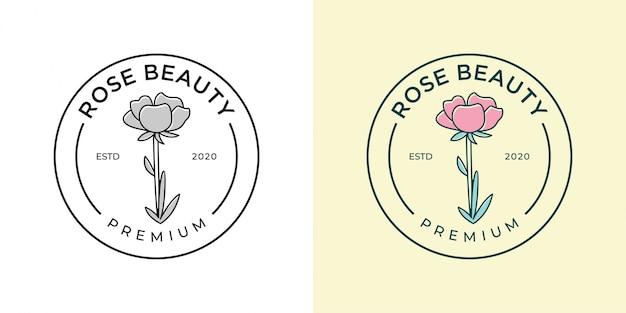 Роза салон красоты и спа дизайн логотипа