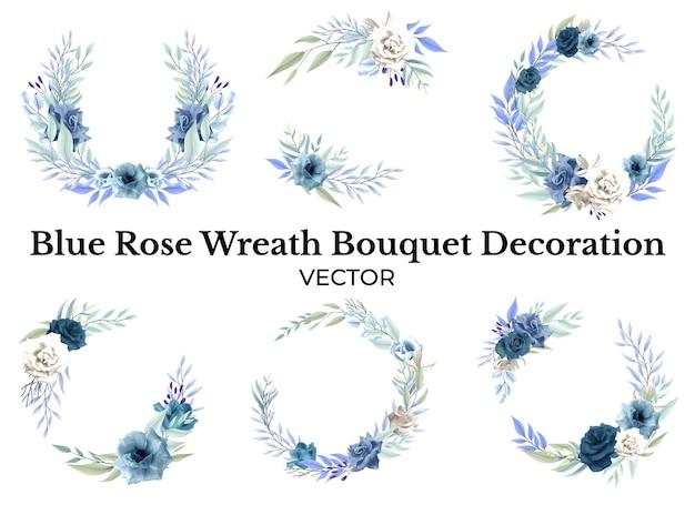 Роза синий цветочный букет украшение