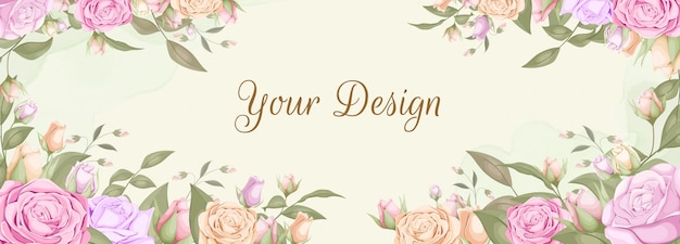 Rose bouquet backdrop banner design