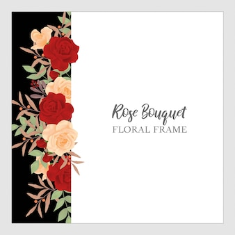 Rose bouquet floral background