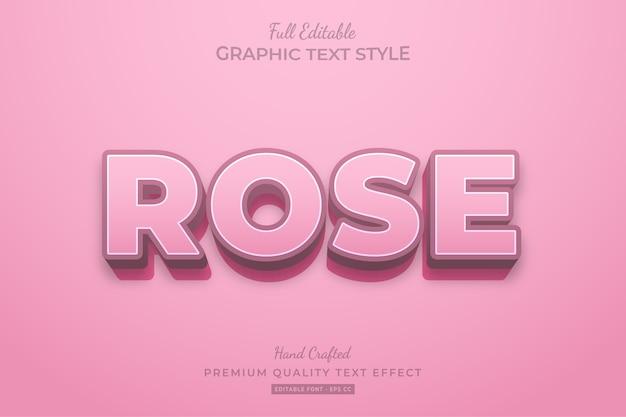 Rose clean editable premium text effect